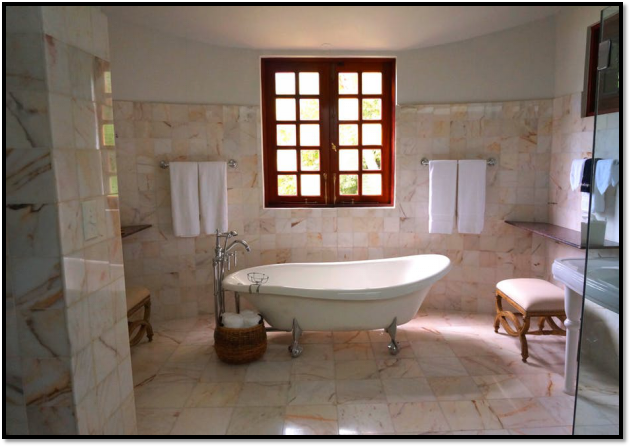 Using Natural Stone for Bathroom Floors